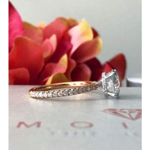 Lisa ~ 18Krw 8.5Mm Round Moissanite Diamond Hidden Halo And Band - Ring