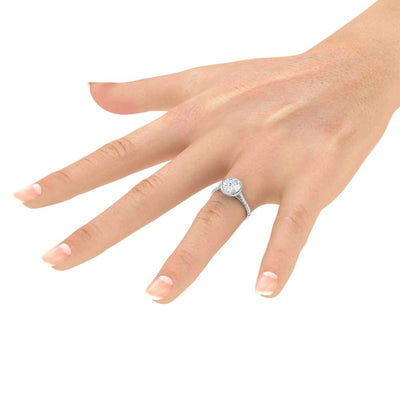 Patricia ~ 6.5Mm Round Moissanite Moissanite Band - Ring