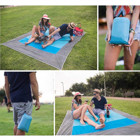 The Sandproof Beach Blanket can be used when you travel