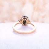Vintage salt and pepper diamond engagement ring rose gold engagement ring diamond cluster ring wedding Bridal Anniversary