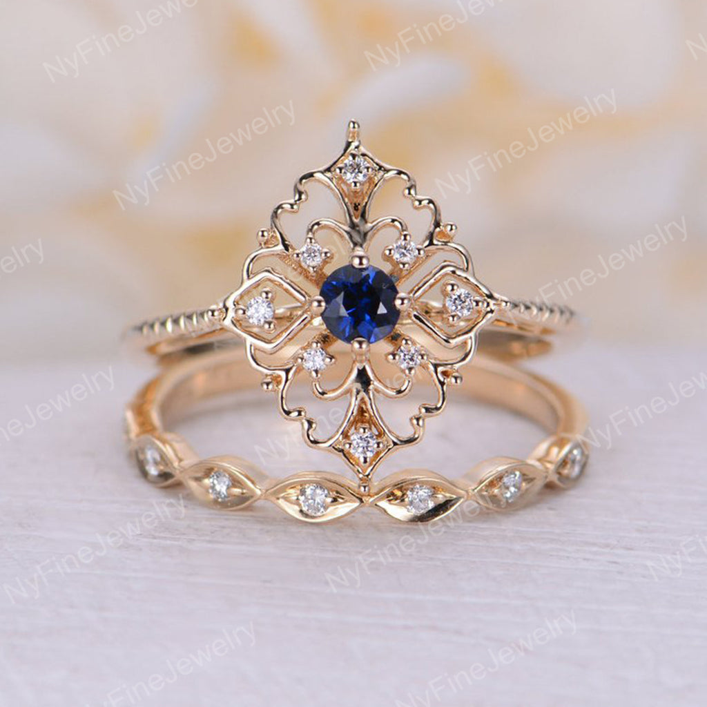 Art Deco Style Round Diamond Vintage Cluster Engagement Ring 14k White Gold Over