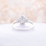 Moissanite Engagement Ring Oval moissanite ring pear moissanite white gold engagement ring classical wedding Cluster Bridal Anniversary