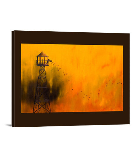 lienzos 1. autumn tower, talla 40 x 30