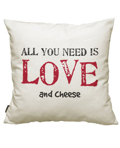 fundas cojines all you need is love... and cheese, talla 50 x 50