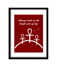 Cargar imagen en el visor de la galería, cuadros always look on the bright side of life (, talla 30 x 40