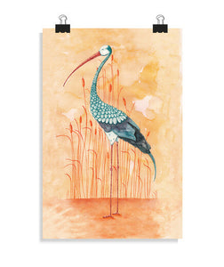posters an exotic stork, talla 20 x 30
