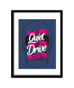 cuadros be quiet and drive, talla 30 x 40