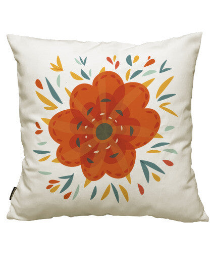 fundas cojines beautiful decorative orange flower, talla 50 x 50