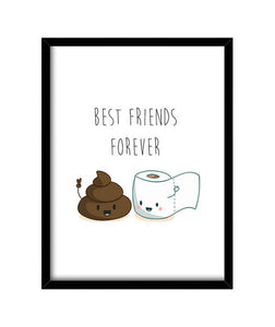 cuadros best friends forever, talla 30 x 40