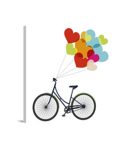 lienzos bike love, talla 40 x 40