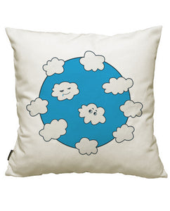 fundas cojines blue sky happy funny clouds, talla 50 x 50