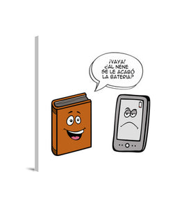 lienzos book vs ebook, talla 40 x 40