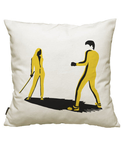 fundas cojines bruce lee vs. black mamba, talla 50 x 50