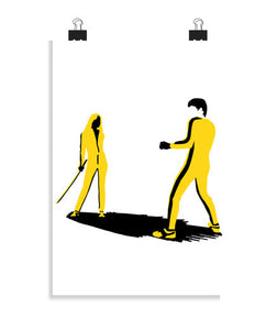 posters bruce lee vs. black mamba, talla 20 x 30