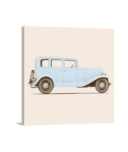 lienzos car of the 30s, talla 40 x 40