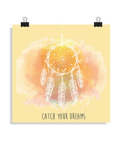 posters catch your dreams, talla 40 x 40