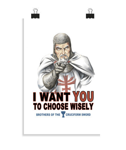 posters choose wisely, talla 20 x 30