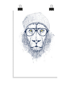 posters cool lion, talla 20 x 30