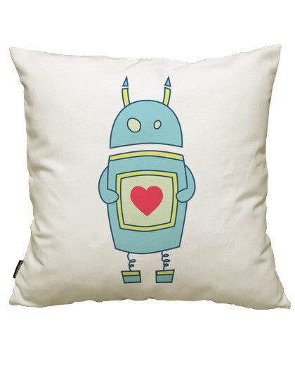 fundas cojines cute heart holding cartoon robot, talla 50 x 50