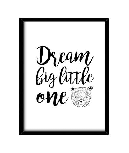 cuadros dream big little one, talla 30 x 40