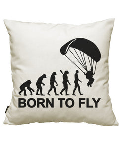 fundas cojines evolution skydiving born to fly, talla 50 x 50