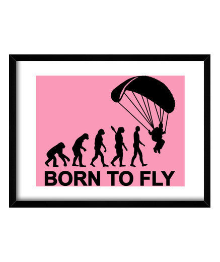 cuadros evolution skydiving born to fly, talla 40 x 30