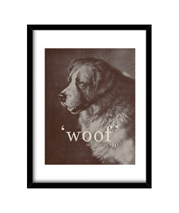 cuadros famous quote dog, talla 30 x 40