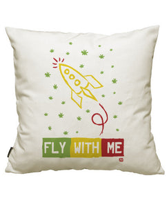 fundas cojines fly with me rasta, talla 50 x 50