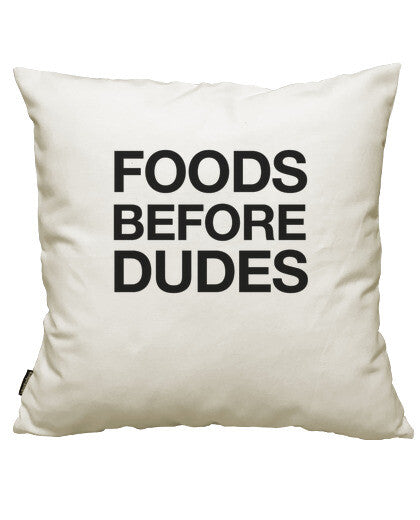 fundas cojines foods before dudes, talla 50 x 50