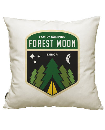 fundas cojines forest moon camping, talla 50 x 50