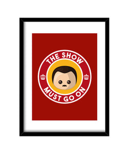 cuadros freddie show must go on red cuadro, talla 30 x 40