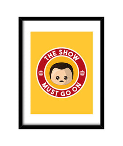 cuadros freddie show must go on yellow cuadro, talla 30 x 40
