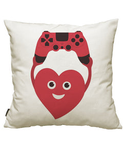 fundas cojines gamer heart with gamepad, talla 50 x 50