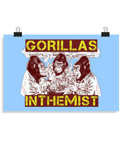 posters gorillas in the mist, talla 30 x 20