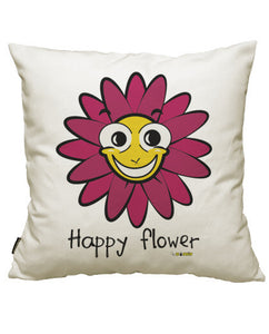 fundas cojines happy flower, talla 50 x 50