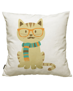 fundas cojines hipster cat, talla 50 x 50