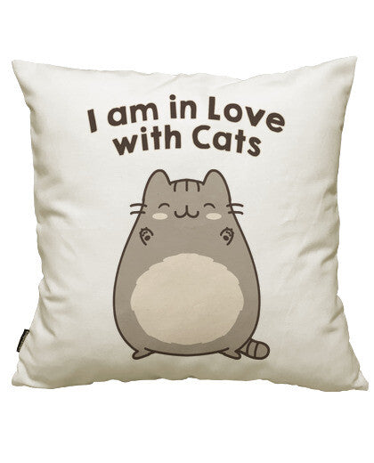 fundas cojines i am in love with cats, talla 50 x 50