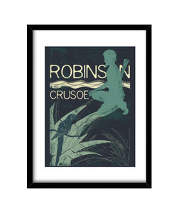 cuadros i love books collection: robinson crusoe, talla 30 x 40