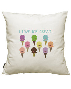 fundas cojines i love ice cream, talla 50 x 50