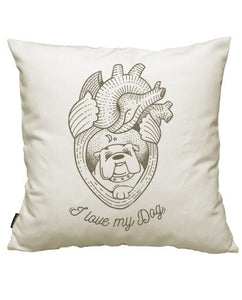 fundas cojines i love my dog, talla 50 x 50