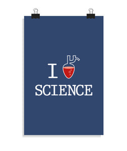 posters i love science, talla 20 x 30
