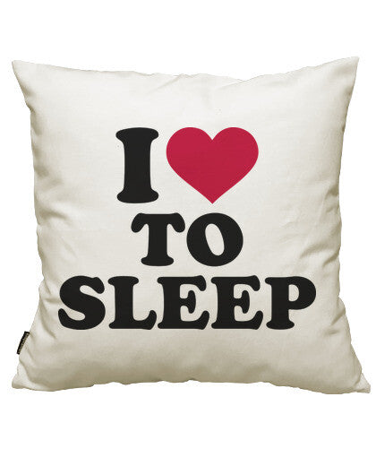 fundas cojines i love to sleep, talla 50 x 50