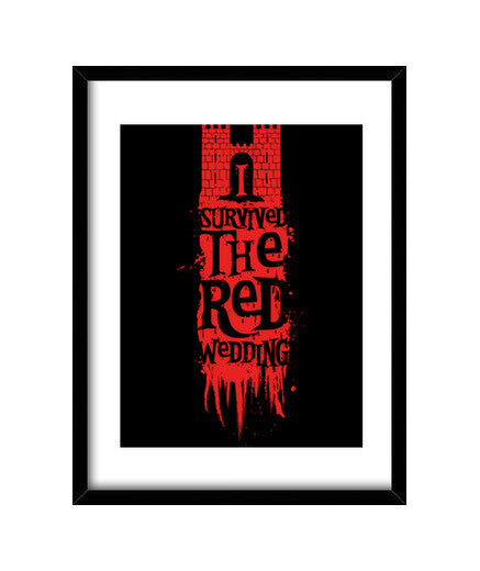 cuadros i survived the red wedding, talla 30 x 40