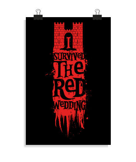 posters i survived the red wedding, talla 20 x 30