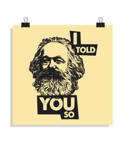 posters i told you so, talla 40 x 40