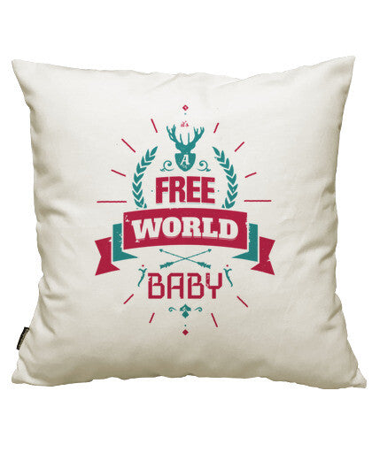 fundas cojines it's a free world baby, talla 50 x 50