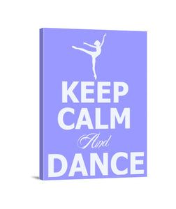 lienzos keep calm and dance, talla 30 x 40