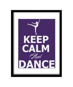 cuadros keep calm and dance, talla 30 x 40