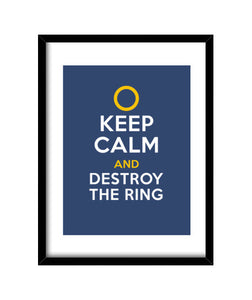cuadros keep calm and destroy the ring, talla 30 x 40