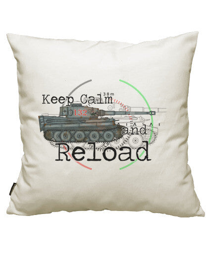 fundas cojines keep calm and reload the tiger, talla 50 x 50